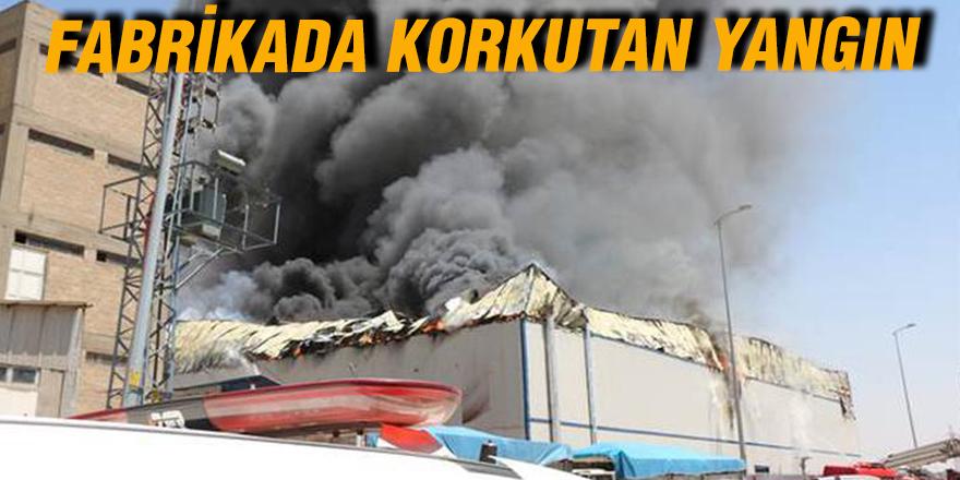 Gaziantep'teki fabrika yangını söndürülemiyor