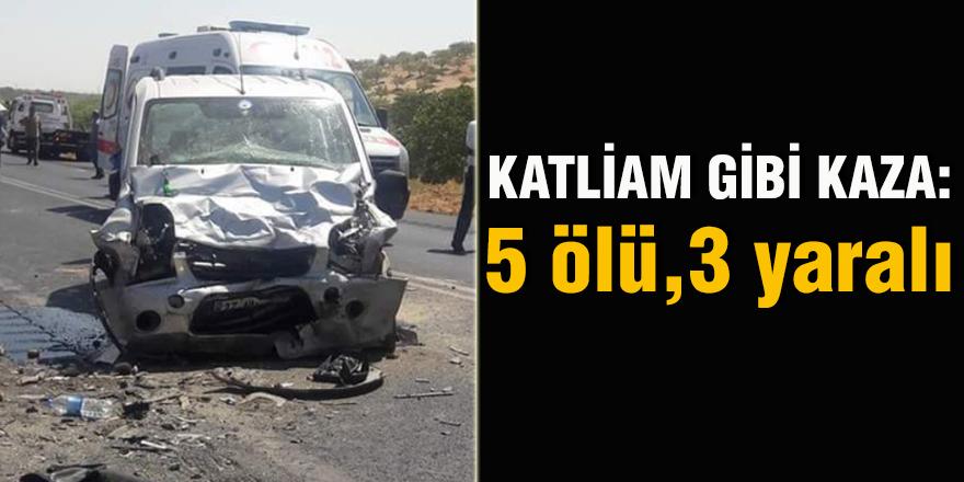 Katliam gibi kaza: 5 ölü, 3 yaralı