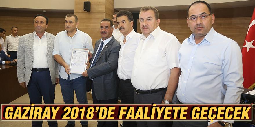 Gaziray 2018'de faaliyete geçecek