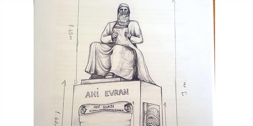Şahin'den şimdi de Ahilik anıtı