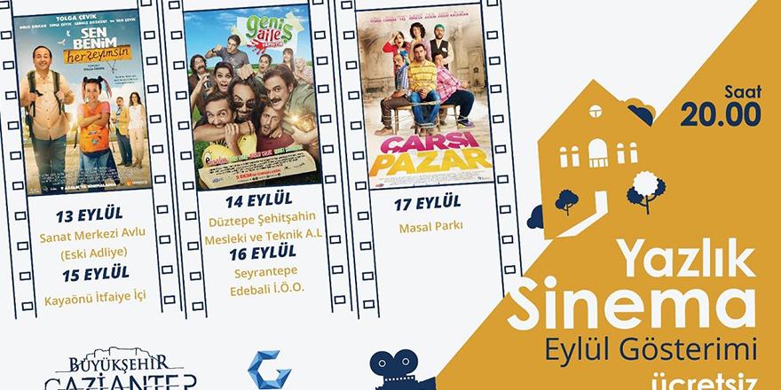 Açık hava sinema etkinliğine davet