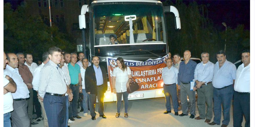 Bitlis'ten 45 esnaf geldi
