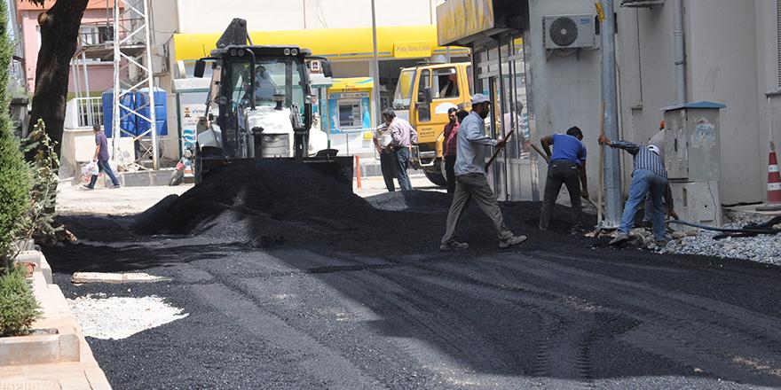 İslahiye'de  sokaklar asfaltlanıyor