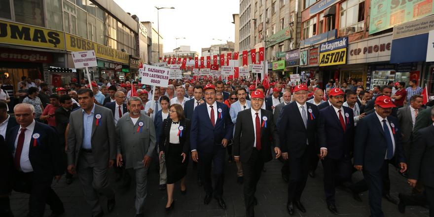 """AHİ DUASI ANITI""""NI AÇTI"""