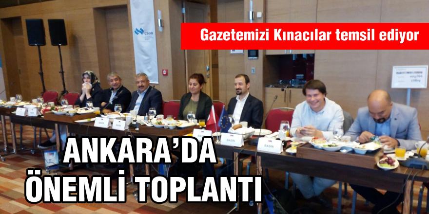Ankara'da önemli toplantı