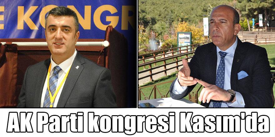 AK Parti kongresi Kasım'da