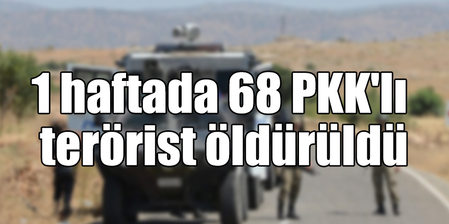 1 haftada 68 PKK'lı terörist öldürüldü