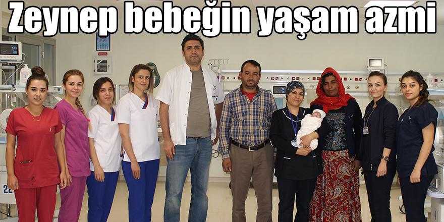 Zeynep bebeğin yaşam azmi