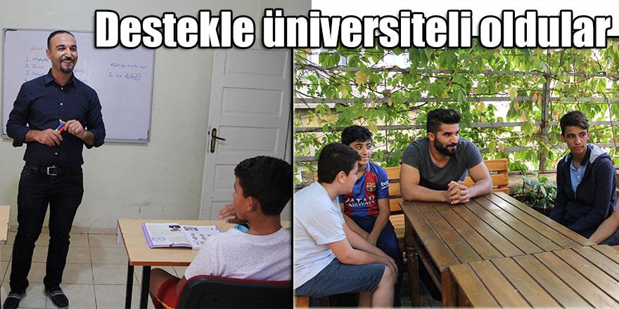 Destekle üniversiteli oldular