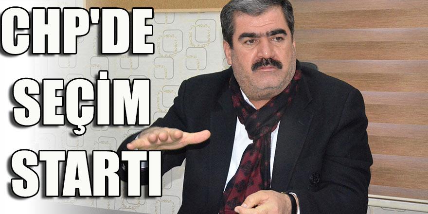CHP'DE SEÇİM STARTI