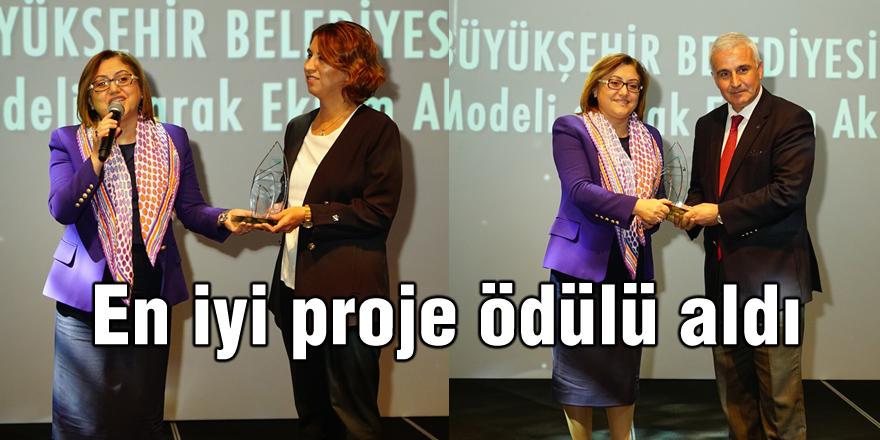 En iyi proje ödülü aldı