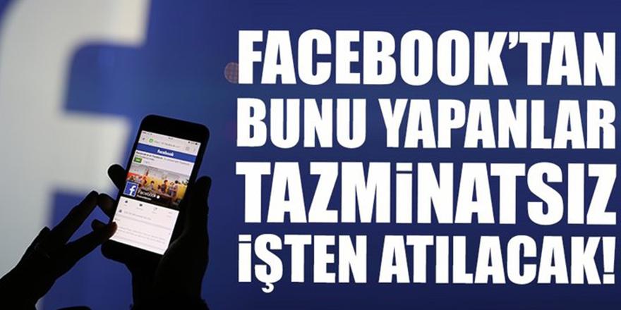 Facebooktan bunu yapanlar yandı!