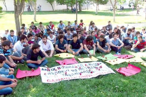 Üniversitede Reyhanlı protestosu