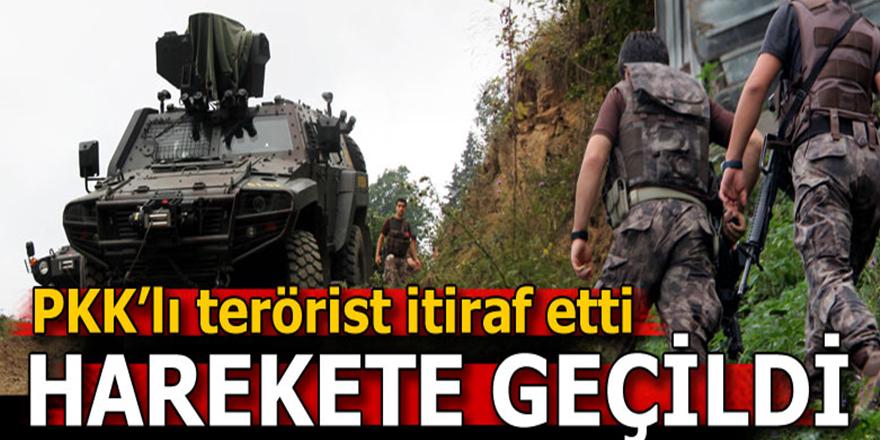 Giresun'da yakalanan terörist yer gösterdi