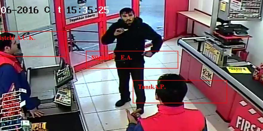 Marketi yağmalayan zanlı tutuklandı