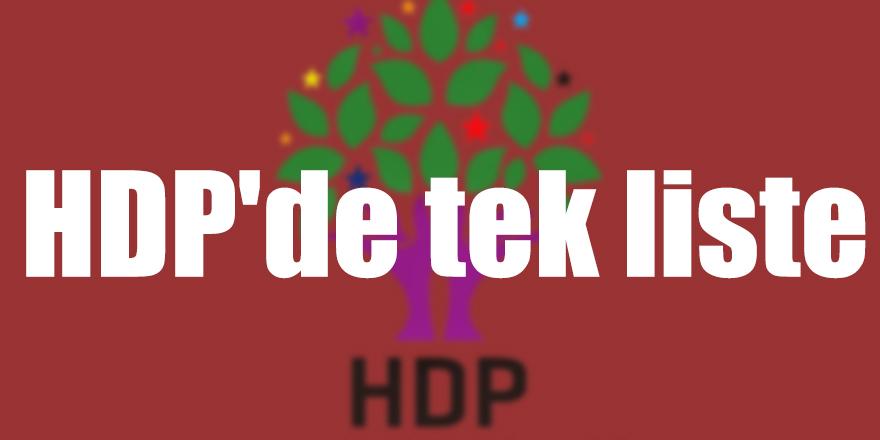 HDP'de tek liste