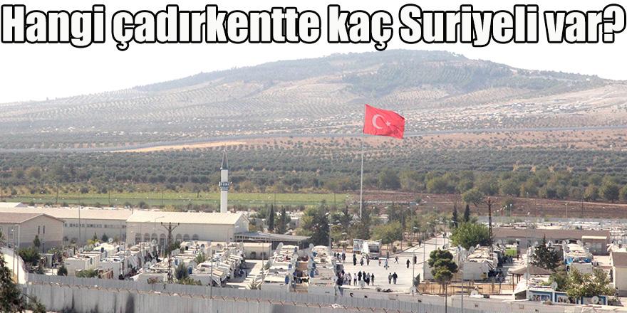 Hangi çadırkentte kaç Suriyeli var?