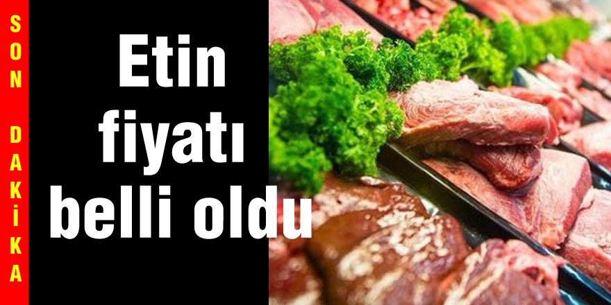 Son dakika.... Etin fiyatı belli oldu