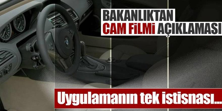 """Sanayi Bakanlığından """"cam filmi"""" açıklaması"""