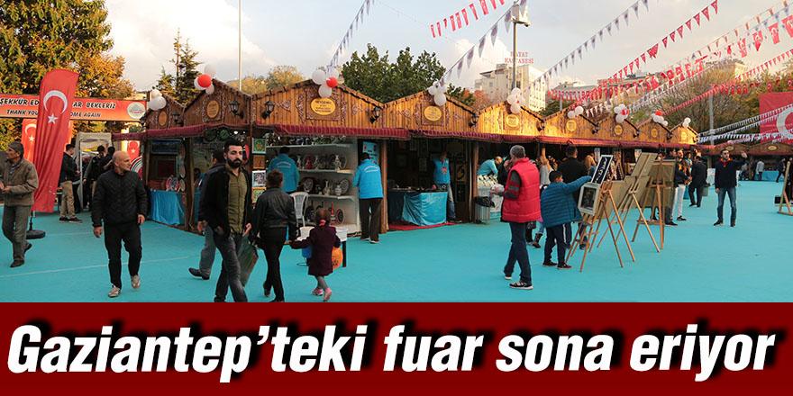Gaziantep'teki fuar sona eriyor
