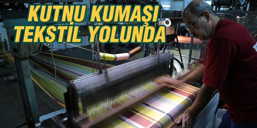 Kutnu kumaşı tekstil yolunda