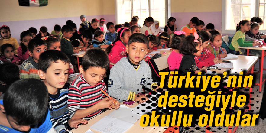 Türkiye'nin desteğiyle okullu oldular