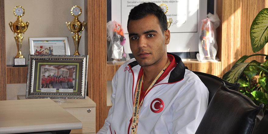 Nizipli sporcunun taekwondo başarısı