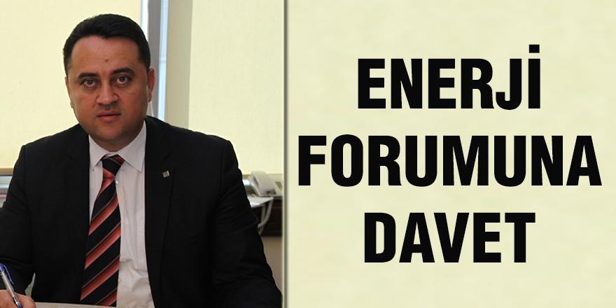 Enerji forumuna davet