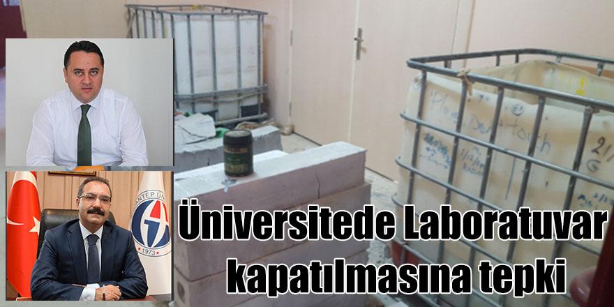 Üniversitede Laboratuvar kapatılmasına tepki