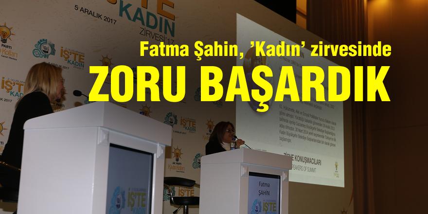 Fatma Şahin, 'Kadın' zirvesinde