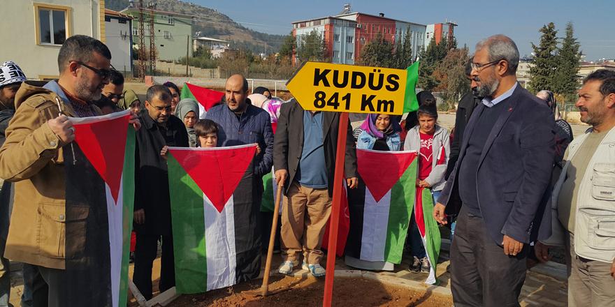 'Kudüs' protestosu