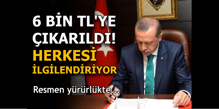 Erdoğan onayladı! Herkesi ilgilendiriyor