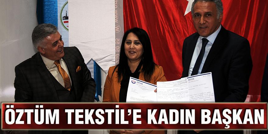 Öztüm Tekstil'e kadın başkan