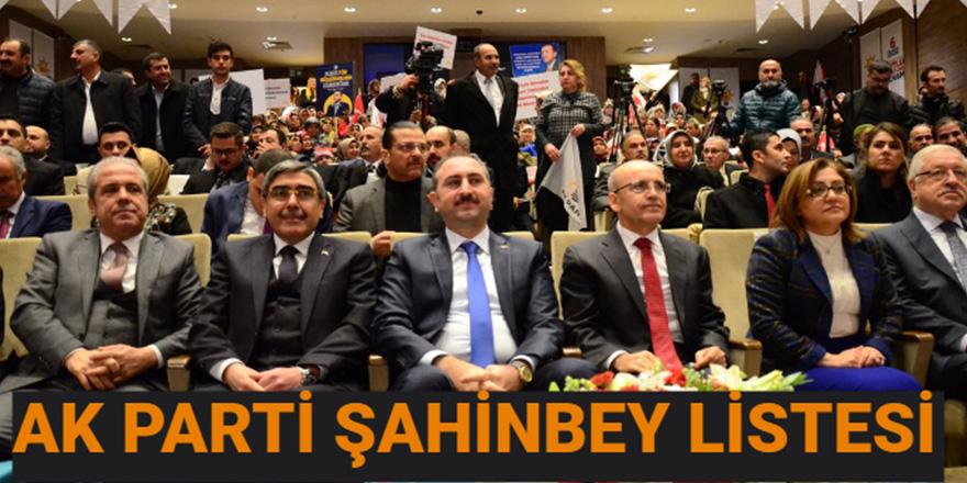 AK Parti Şahinbey İlçe Teşkilatı listesi belli oldu
