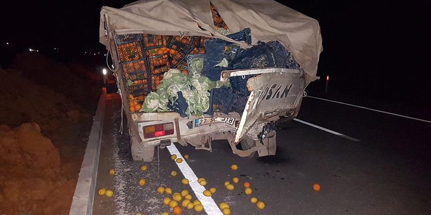 Karayolunda acı kaza