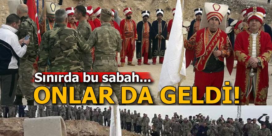 Sınırdaki askerlere Mehteran konseri...