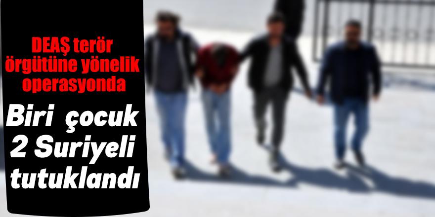 Biri çocuk 2 Suriyeli tutuklandı