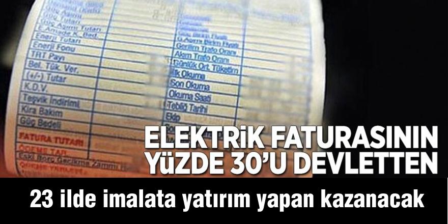 Elektrik faturasının yüzde 30'u devletten
