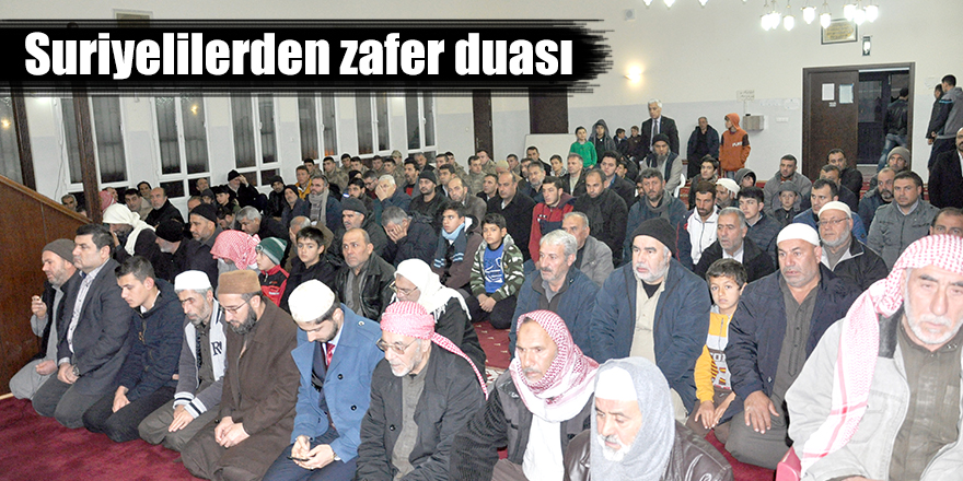 Suriyelilerden zafer duası