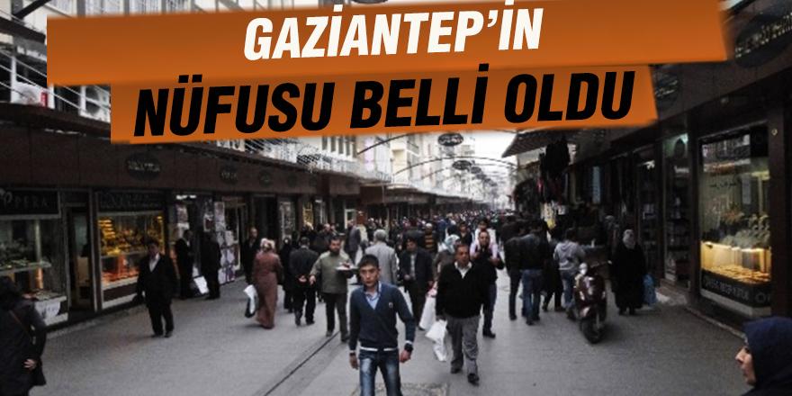 Gaziantep'in nüfusu belli oldu