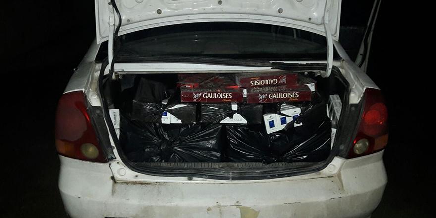 Araç içinde kaçak sigara