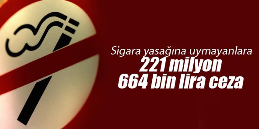 Sigara yasağına uymayanlara 221 milyon 664 bin lira ceza