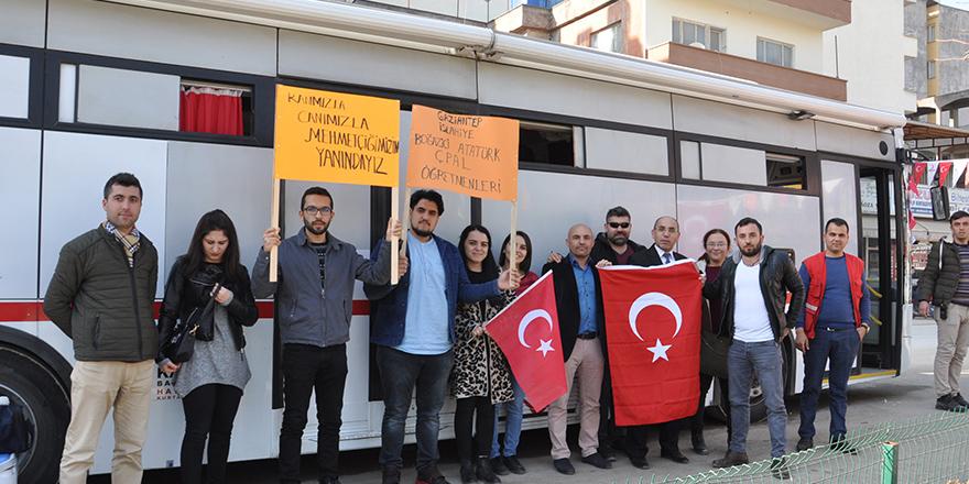 Zeytin Dalı'na kan bağışıyla destek