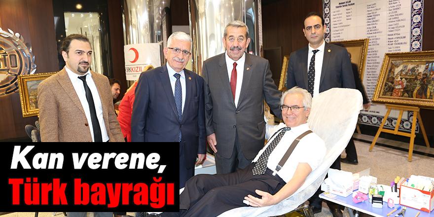 Kan verene, Türk bayrağı