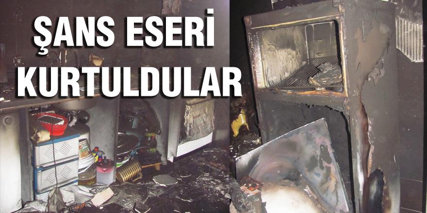 6 çocuk annesi kadının evinde çıkan yangın korkuttu