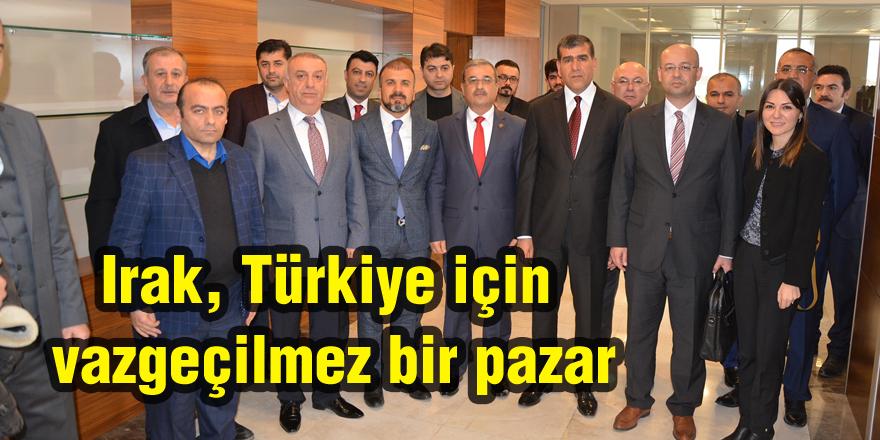 Irak, Türkiye için vazgeçilmez bir pazar