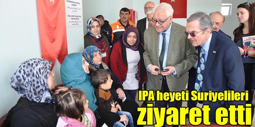 IPA heyeti Suriyelileri ziyaret etti