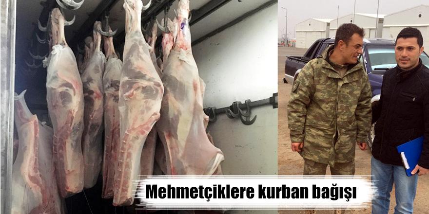 Mehmetçiklere kurban bağışı