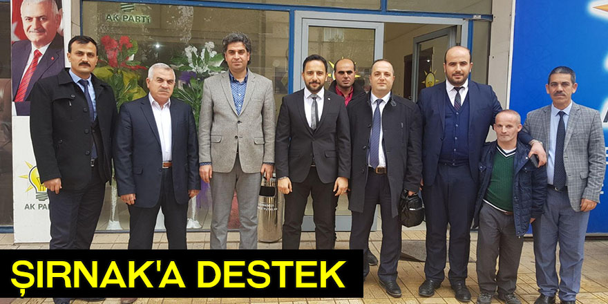 Şırnak'a destek