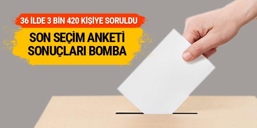 Son seçim anketi sonuçları bomba ittifak detayı